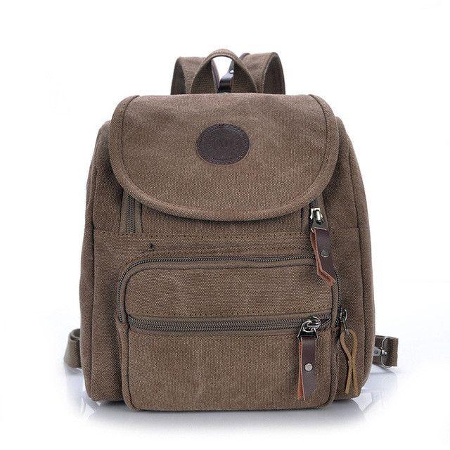 Casual Canvas Women Bag Women Backpack SchoolBag Small Bag Female Shoulder Bag for Teenage Girls Student Backpacks