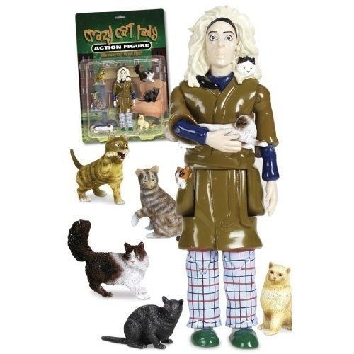 Crazy Cat Lady Action Figure | 15 Incredibly Weird Things You Can Buy On Amazon For Under $15