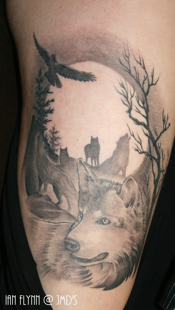 wolf tattoo by ian flynn