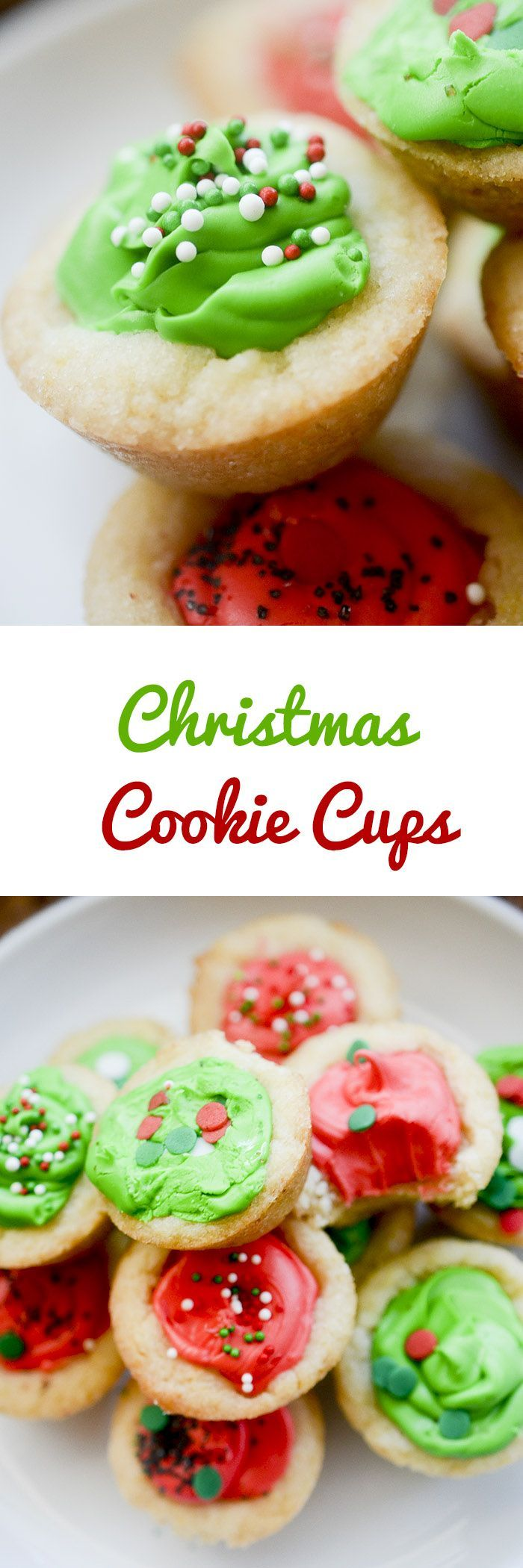 Christmas Cookie Cups - simple cookie idea for your holiday baking.