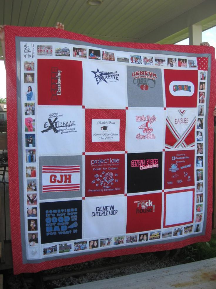 Custom Memory Quilts - I want to do this with the girls dance recital t-shirts that they have outgrown. Another reason to learn to sew