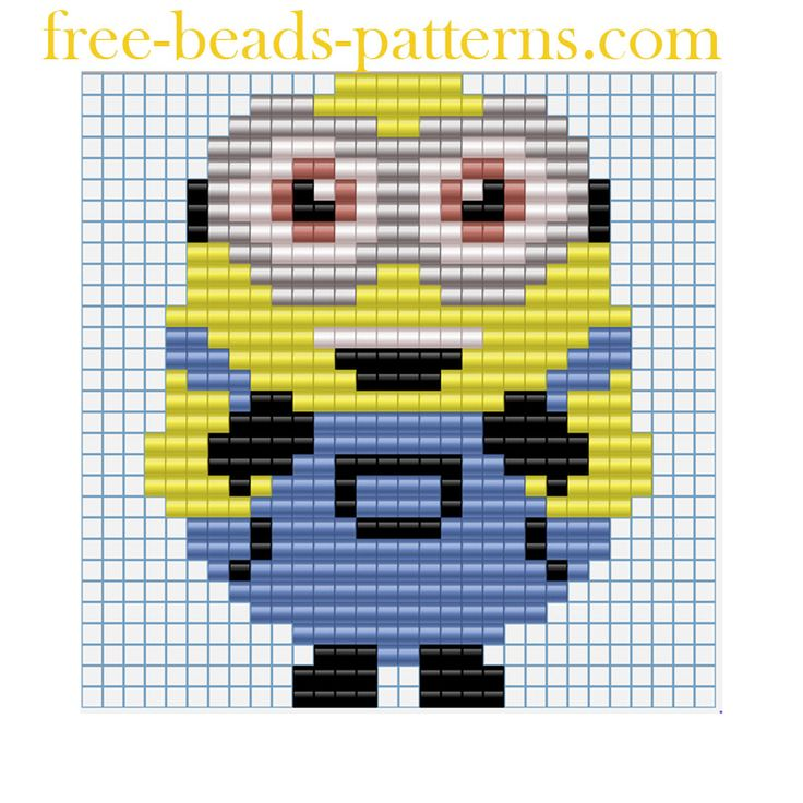 Free perler beads patterns Minions Despicable Me Funny Minion Bob