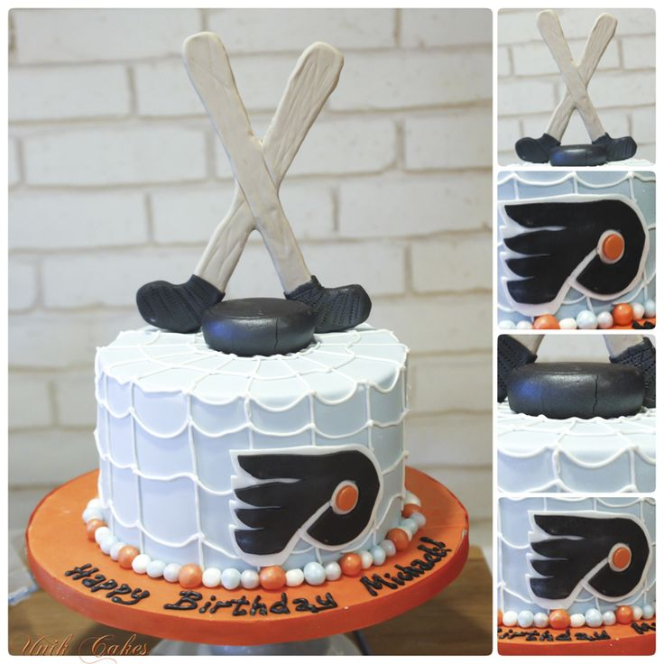 flyers hockey birthday cake