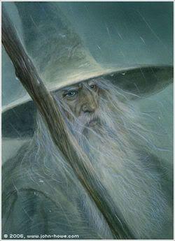 Gandalf The Grey by John Howe #lotr #fantasy #art