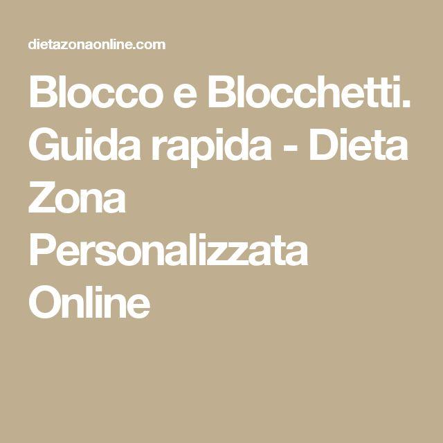 Blocco e Blocchetti. Guida rapida - Dieta Zona Personalizzata Online
