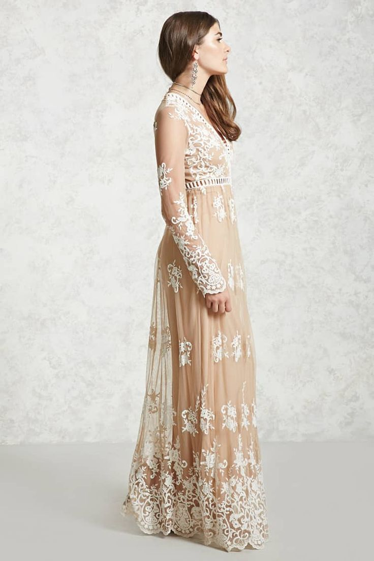 Embroidered Maxi Dress - Women - Dresses - 2000253542 - Forever 21 Canada English