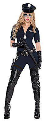 Sexy Polizistin Kostüm (Mittelgroß)