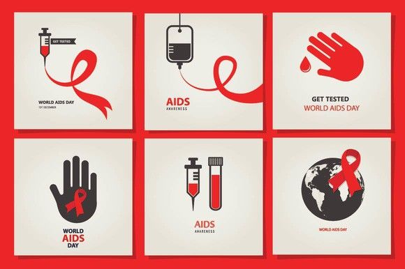 AIDS & HIV posters. Medical Infographic. $5.00