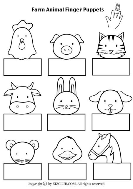 Farm Animal Finger Puppets - Kiz Club                                                                                                                                                                                 More