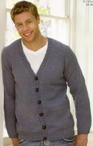 Sirdar 9089 Knitted Cardigan For Men In DK