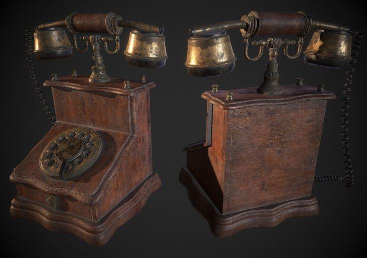 ArtStation - Antique Phone, Hugo Beyer