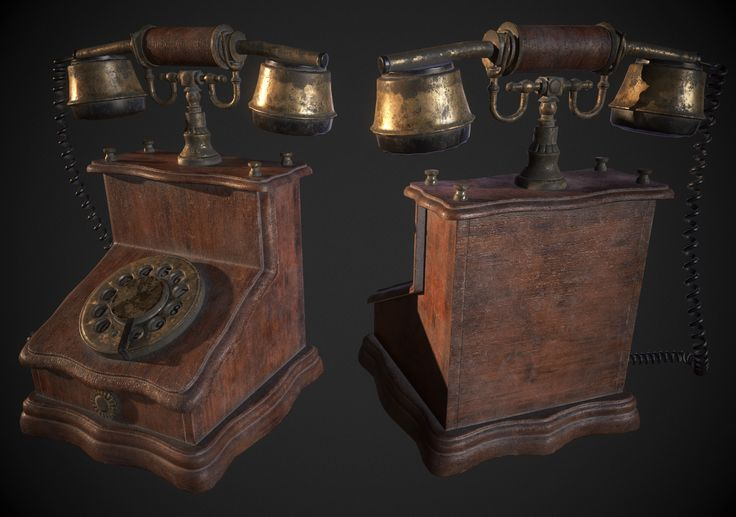 ArtStation - Antique Phone, Hugo Beyer