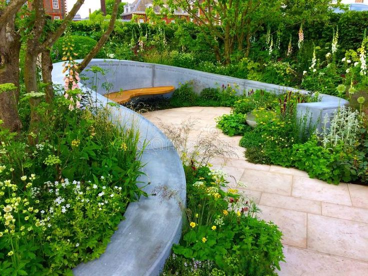 A scent garden design. LONDON - MAY 2017 - RHS CHELSEA ...