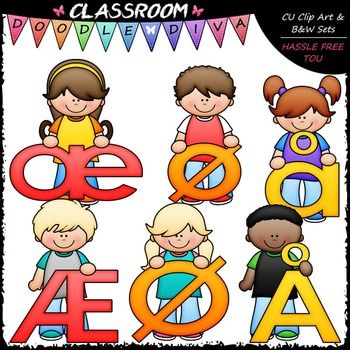 This Bright Alphabet Kids Norwegian Special Letters Add-On Clip Art 12 piece set comes with 6 colored clip art and 6 black and white images (black lines with a white fill). They are 300dpi in transparent PNG and non-transparent JPG formats. This Bright Alphabet Norwegian Special Letters set coordinates with my FREEBIE Bright Alphabet Norwegian Special Letters Add-On Clip Art, Bright Alphabet, Numbers & Punctuation Clip Art and Bright Alphabet Kids Clip Art Bundle (2 Sets) and is wonderful...