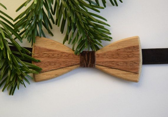 Wooden bow tie Christmas gift Hand made Unique gift by terezavarga