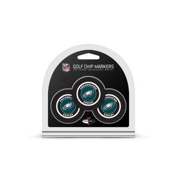 Philadelphia Eagles Golf Chip with Marker 3 Pack