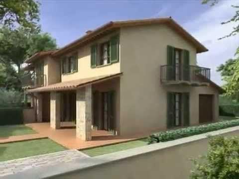 FORCOLI Centro: Villa Bifamiliare in Costruzione, Stile Rustico Toscano ...