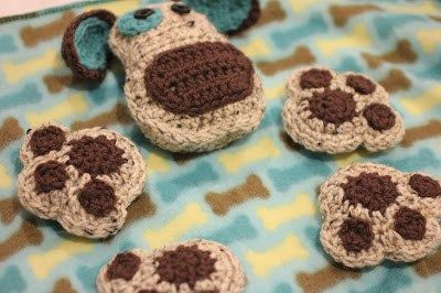 Puppy Dog Lovey Blanket Crochet Pattern - Repeat Crafter Me