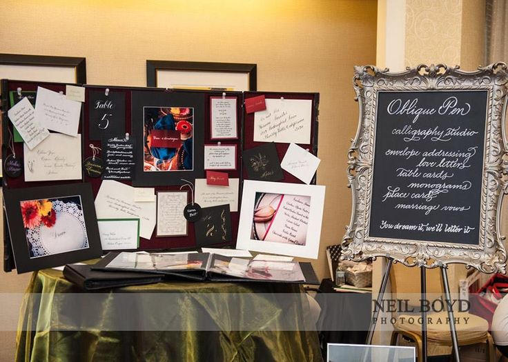 The Oblique Pen U2014 At Raleigh Marriott Crabtree Valley. Booth DisplaysBooth  DesignChalk BoardBooth IdeasPhotoshoot ...