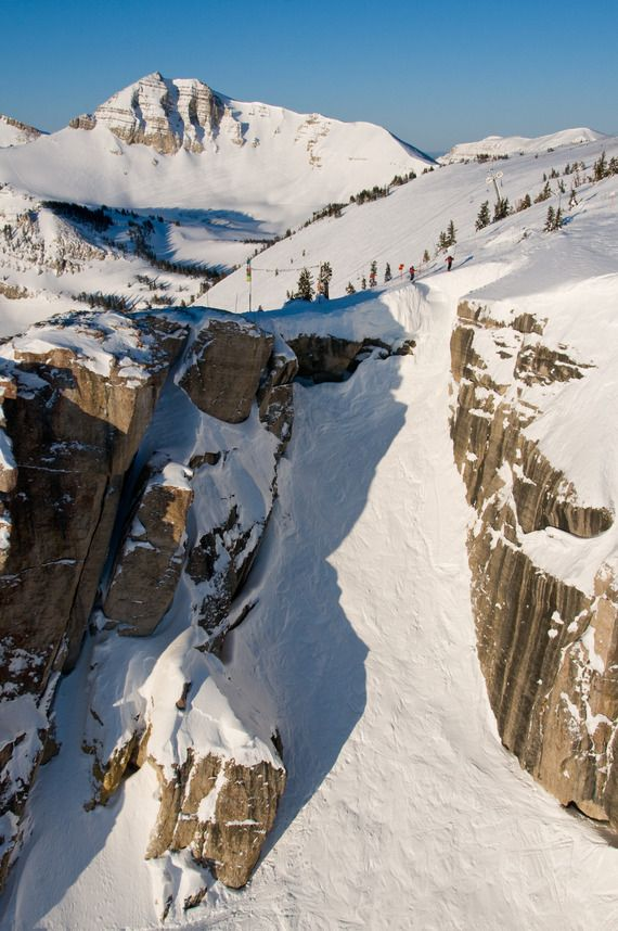 Stunning view of Corbet's Couloir in Jackson Hole