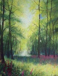 Impressionist Foxglove Woodland by Teresa Tanner