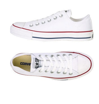 white and blue converse