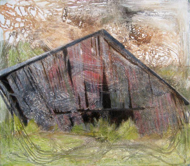Seija sainio: Pihalato, mixed media, 54 x 62cm, 2014