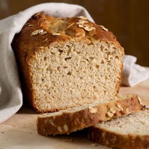 Honey-Oat Quick Bread -  has a pleasant flavor and divinely moist, tender crumb. It requires minimal mixing and cleanup, calls for ingredients usually stocked in the pantry, and is tasty yet healthful.