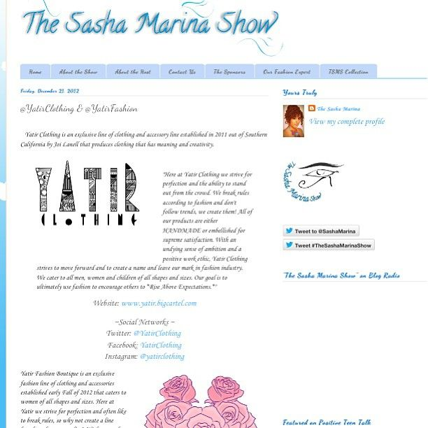 Madamyatir Yatir Clothing And Yatir Fashion Featured On The Sasha Marina Show Blog