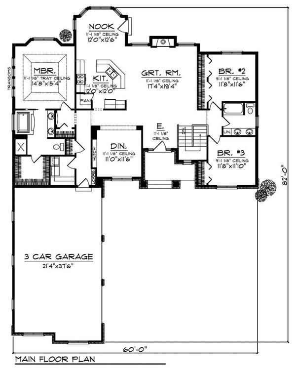 Best 25 ranch floor plans ideas on pinterest for Ranch floor plans with basement