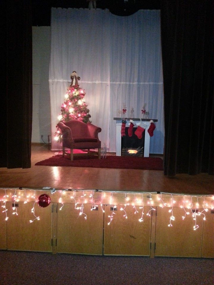 Polar Express Ward Christmas Party - Santa on stage