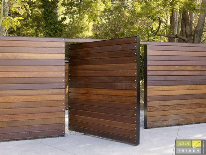 17 best images about fence ideas on pinterest backyard for Horizontal metal siding