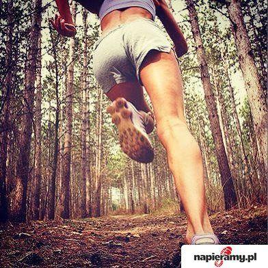 Bieganie po leśnych ścieżkach