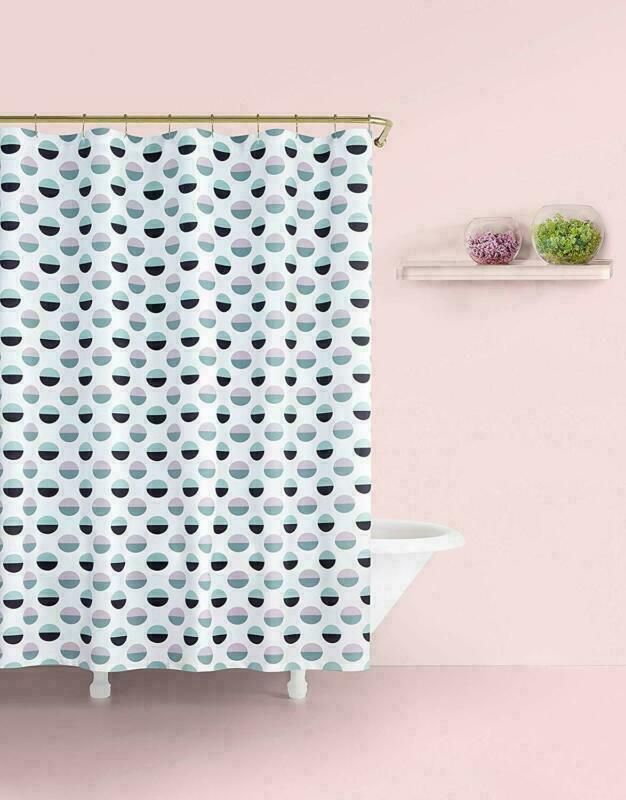 Kate Spade New York Half Dot Shower Curtain 72 White Navy