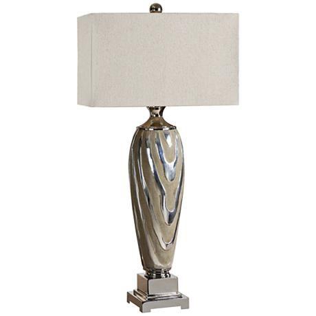 Uttermost Allegheny Textured Ceramic Beige Table Lamp