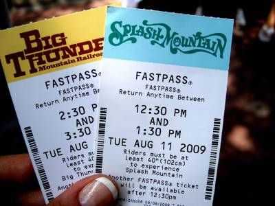 Rather than the paper pass, FASTPASS+ uses a card-type pass, with all of your FASTPASS selections programmed on it. You don't have to physically go anywhere but your computer to plan your FASTPASSes. For the test, Disney allowed us to choose up to four experiences from among a short list of attractions, to obtain a pre-loaded FASTPASS. Read the review of the new FASTPASS + system!