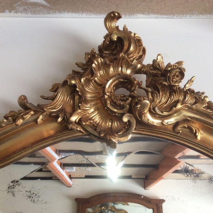 French Gilt Overmantle Mirror | 416079 | Sellingantiques.co.uk