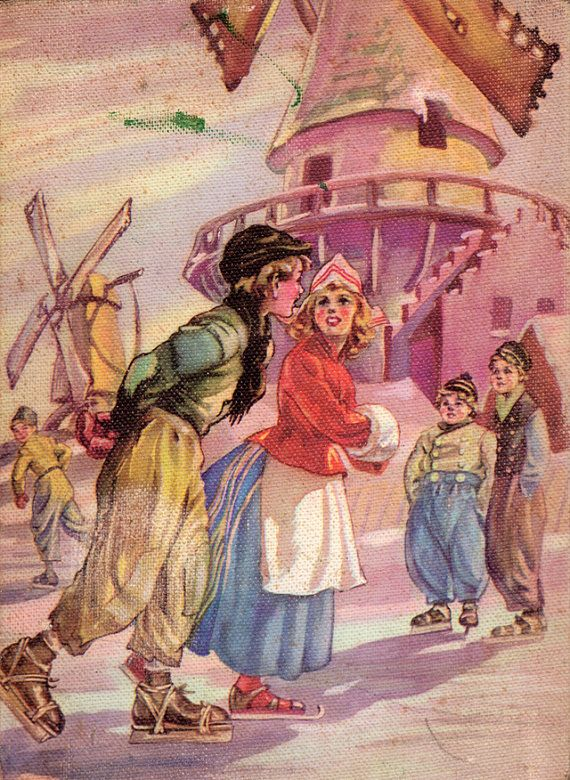 Hans Brinker or The Silver Skates - A Story of Life in Holland by Mary Mapes Dodge, illustrated by Cyrus Leroy Baldridge