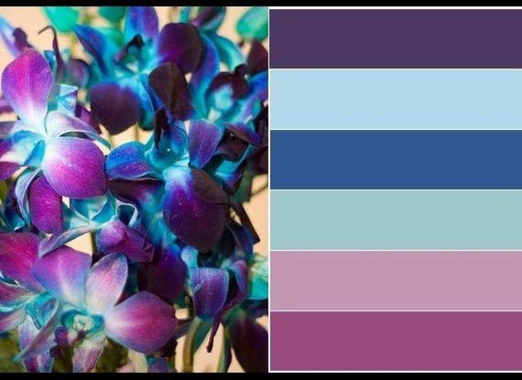 Paint Palettes We Love: Sapphire Orchid Color Palette