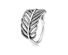 Silver ring with micro pave set cubic zirconia. I like this!