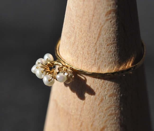 Tiara - water pearl, K18 ring by Mirisa イノセントリング ティアラ(tiara) - ゴールドアクセサリーのセレクトショップ 6e
