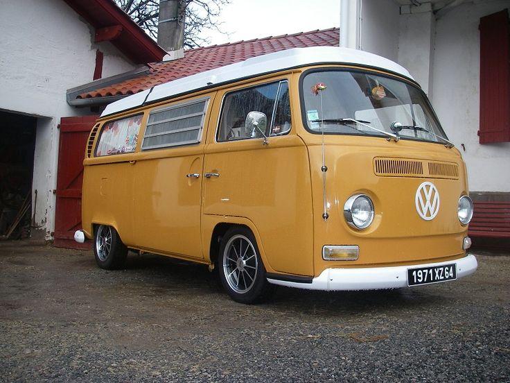 VW Bus. Love the paint job.