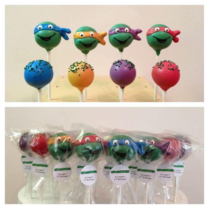 ninja turtle cake ideas   Teenage Mutant Ninja Turtles cake pops