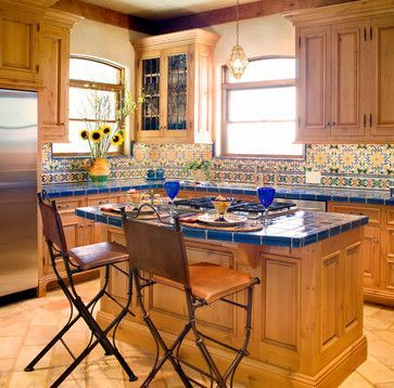 Mexican Style Kitchens | Mediterranean Style Kitchen Design Ideas, Pictures,  Remodel And Decor