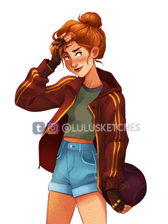 Ginny Weasley Fanart By Laura Price Lulusketches On Tumblr Ginnyweasley Ginny Harrypotterfa Harry Potter Drawings Harry Potter Ginny Cute Harry Potter