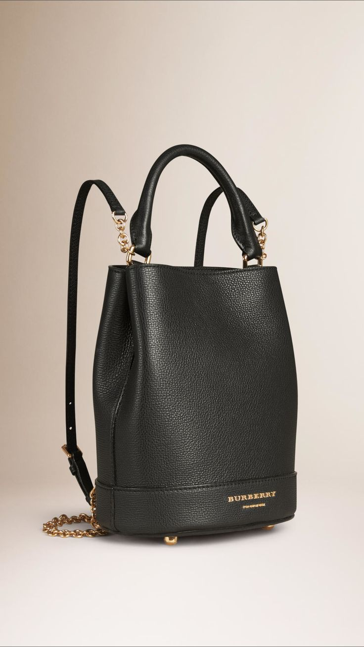 Burberry   Black The Bucket Backpack In Grainy Leather   Lyst