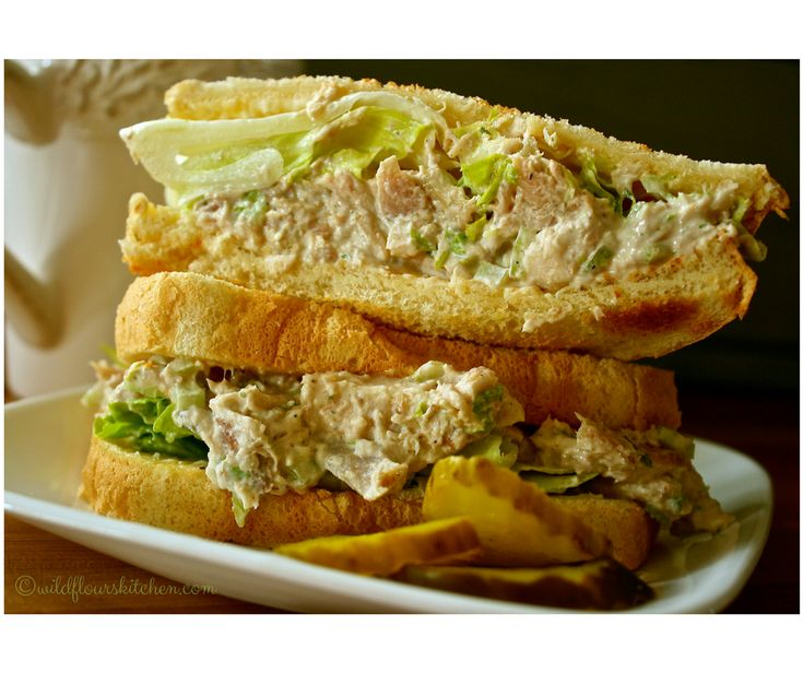 Creamy Slow Cooker Roast Chicken Salad Sandwiches /  Wildflour's Cottage Kitchen