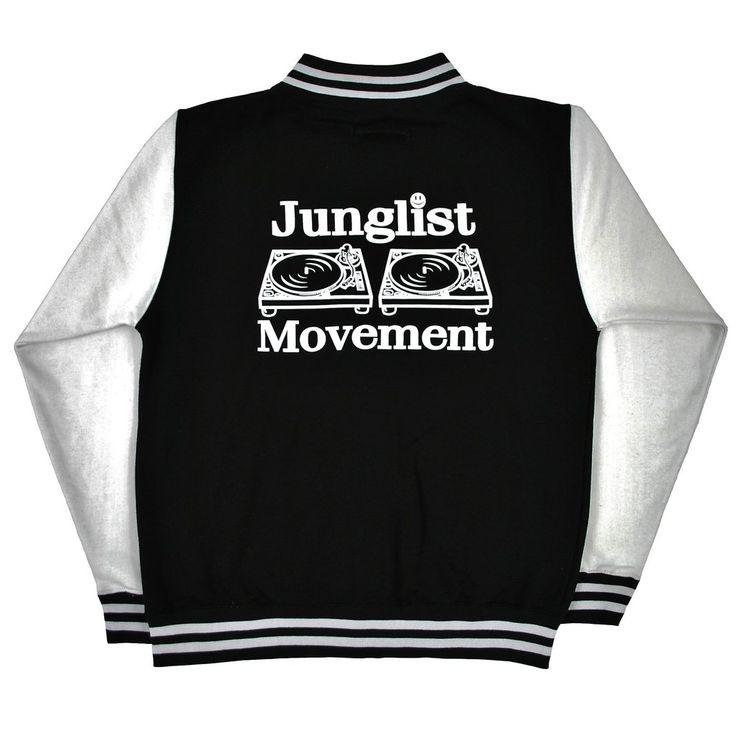 Aerosoul Junglist Movement 'Princeton' Uni-Sex Varcity Jacket (Black/White)