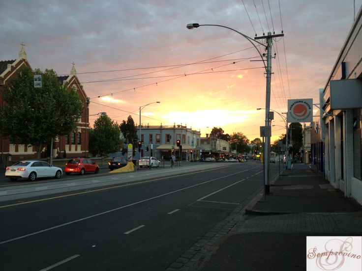 Victoria Street, North Melbourne. Sunset
