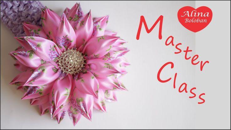 Хризантема с Новыми Лепестками Канзаши / Chrysanthemum with new petals k...